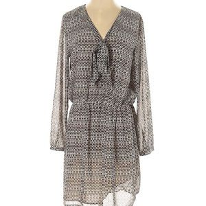 MNG by Mango Tie Front Printed Dress S NWOT